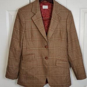 Vintage United Colors of Bennoton Plaid Blazer